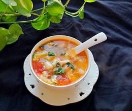 西红柿白玉菇蛋花汤