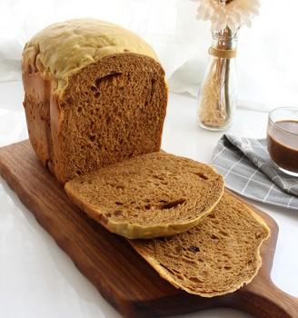 蛋香葡萄干咖啡吐司(面包机一键)
