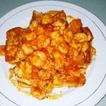 茄汁虾仁豆腐