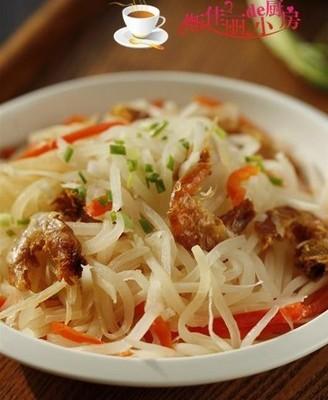 海米炒萝卜丝