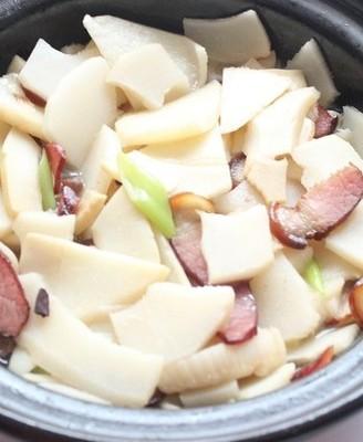腊肉竹笋煲#霸王超市#