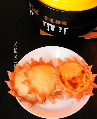 烫面双色太阳花水煎馅饼