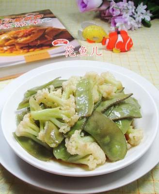 扁豆炒花菜