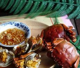 姜葱酒蒸螃蟹