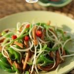 青椒豆芽炒千叶豆腐丝