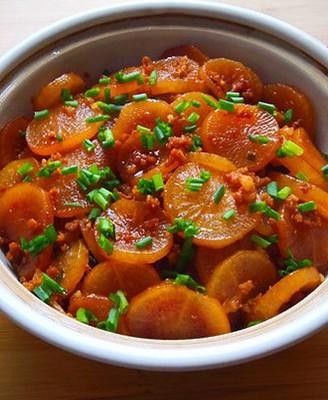 肉末萝卜煲