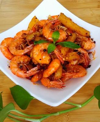 麻辣土豆虾