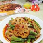 梅豆炒莲藕