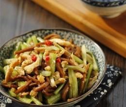 芹菜千叶豆腐炒鸡丝