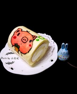 彩绘蛋糕卷(小猪)
