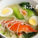 海螃蟹面条汤:味道鲜美无比