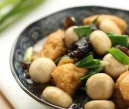 口蘑烩豆腐圆子