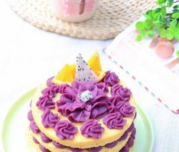 紫薯裸蛋糕