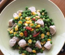 青豆玉米炒鱼丸