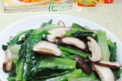 香菇炒油麦菜
