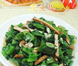 香干炒油麦菜