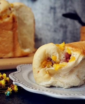 面包机版玉米香肠面包