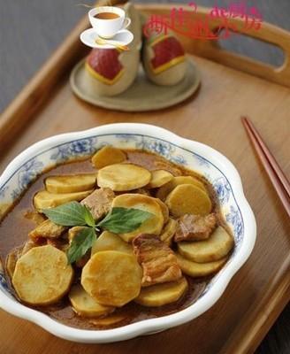 咖喱芋头肉片