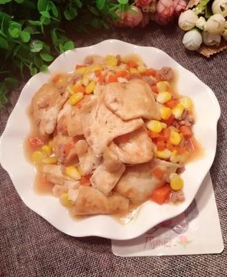 彩色肉末豆腐