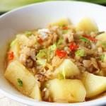 咸鱼蒸土豆