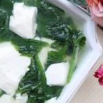 豌豆尖豆腐汤