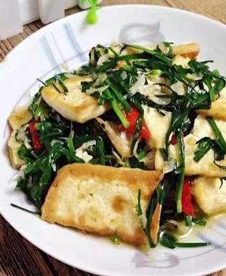 韭菜虾皮豆腐