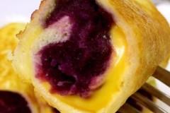 宝宝辅食  紫薯吐司卷