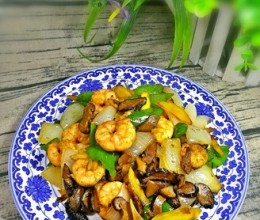 青椒香菇虾仁