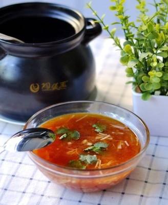 番茄金针菇菌汤