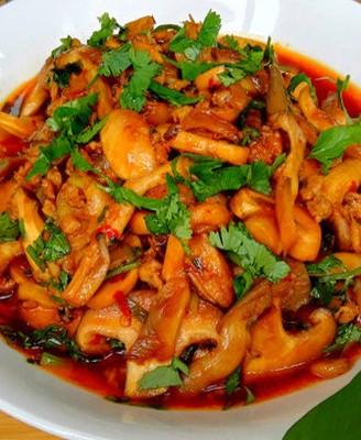 肉末酱菌菇