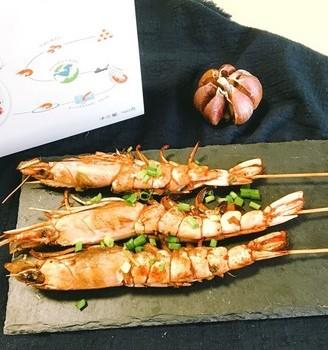 蒜香烤阿根廷红虾#秋季保胃战#