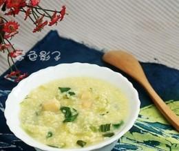 油菜海鲜粥