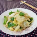 圆白菜炒青椒