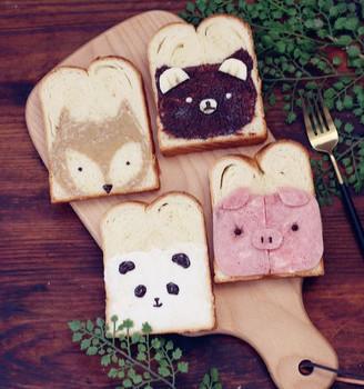 早餐小动物吐司