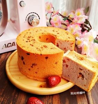 红枣紫薯戚风蛋糕