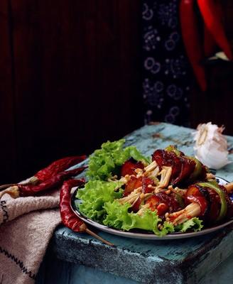 烤肉蔬菜卷