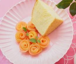 换个方式吃苹果--在盘子上开出的玫瑰花
