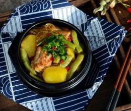 排骨粉条炖豆角~东北菜