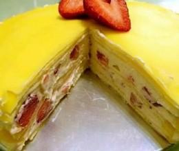 草莓千层饼