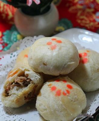 苏式笋尖猪肉月饼