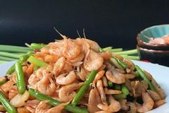 蒜苗爆磷虾