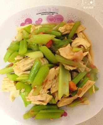 香芹炒腐竹