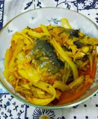 青鱼炖白菜