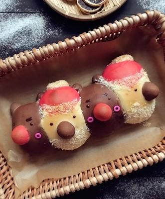 圣诞老人和麋鹿面包