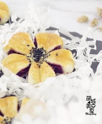 紫薯蝴蝶酥