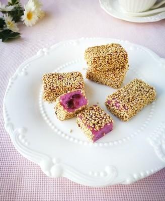 紫薯芝麻糕
