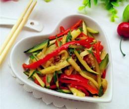 红椒黄瓜丝