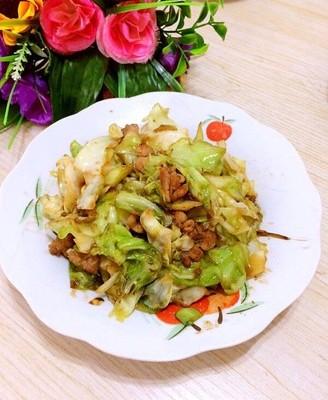 肉炒包心菜