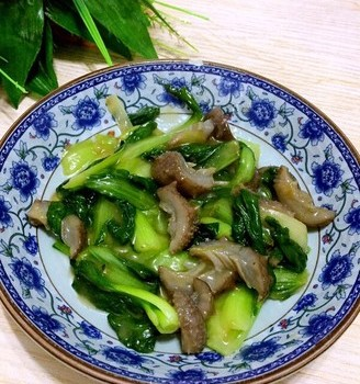 小油菜炒海参