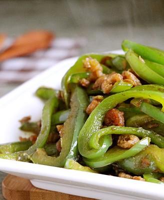 海米炒青椒